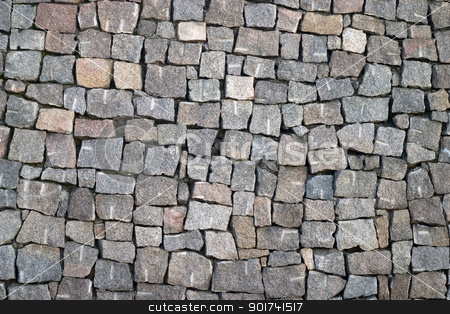 Stone wall stock photo, Wall from a natural stone. by Yury Ponomarev