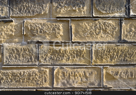 Old brick wall. stock photo, Old wall from a yellow brick. by Yury Ponomarev