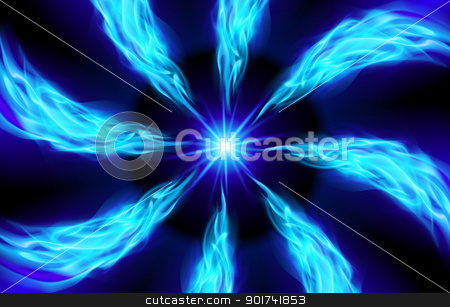 Bright blue Star stock photo, Blue Star for You design on black by dvarg