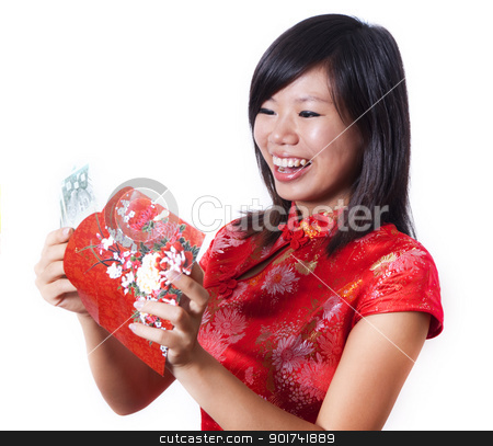 Chinese new year. stock photo, In Chinese and other East Asian societies, a red packet is a monetary gift which is given during holidays or special occasions, such as weddings or Lunar New Year. by szefei