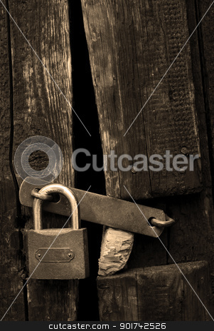 old lock stock photo, old lock by Sarka
