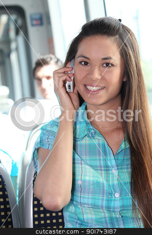 Young person on mobile phone stock photo, Young person on mobile phone by photography33
