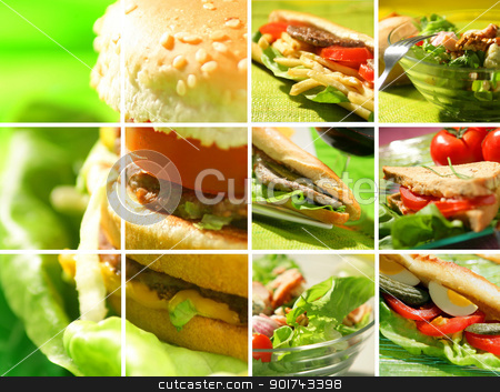 Montage of snack food stock photo, Montage of snack food by photography33