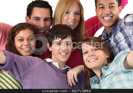 Group of young people stock photo, Group of young people by photography33