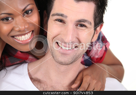 happy interracial couple stock photo, happy interracial couple by photography33