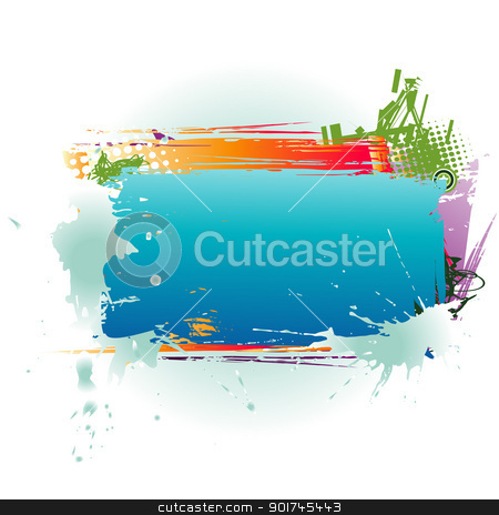 Abstract Colorful Text Box stock vector clipart, vector colorful box with space for your text by pinnacleanimates