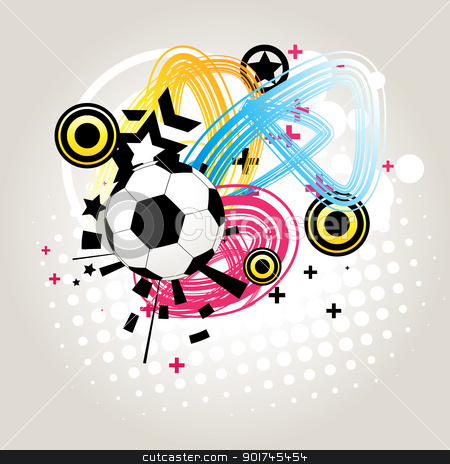 Abstract football vector stock vector clipart, vector abstract football in funky background by pinnacleanimates