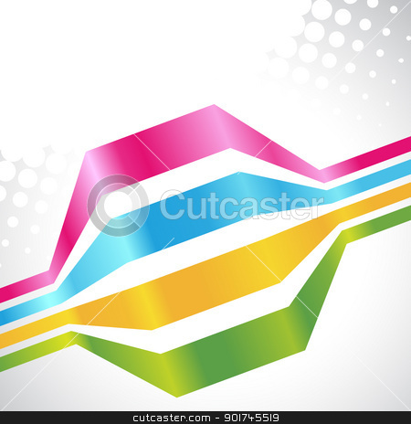 vector colorful lines stock vector clipart, vector colorful lines on white background by pinnacleanimates
