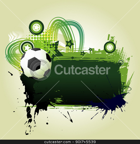 football vector art stock vector clipart, football vector art with space for text  by pinnacleanimates