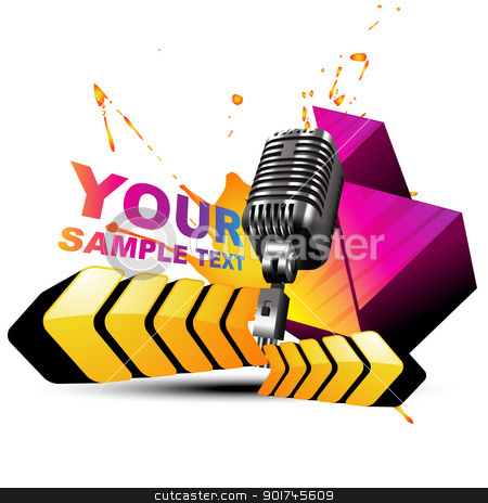 vector mic colorful background stock vector clipart, vector mic in colorful design artwork by pinnacleanimates