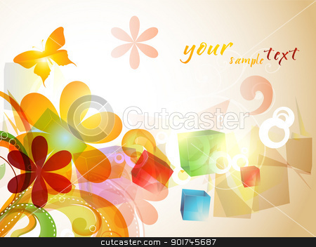 beautiful colorful abstract design stock vector clipart, beautiful colorful abstract eps10 design art by pinnacleanimates