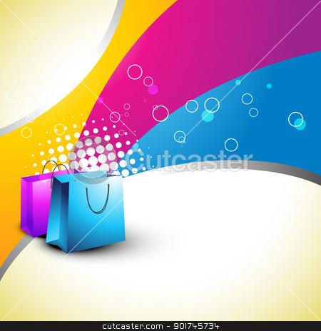 vector fashion design stock vector clipart, vector bags on colorful background by pinnacleanimates