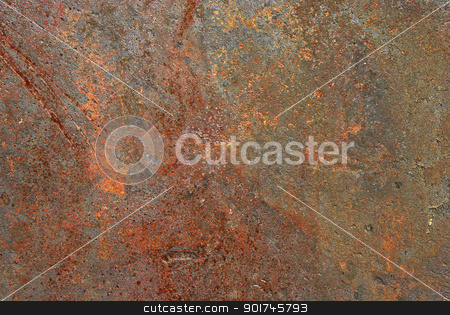 Rusty iron sheet surface stock photo, Rusty iron sheet surface close-up as background by Aleksandar Varbenov