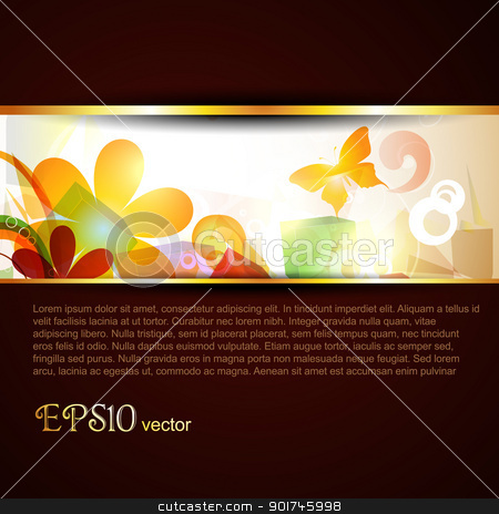 abstract vector template stock vector clipart, abstract vector stylish eps10 template by pinnacleanimates