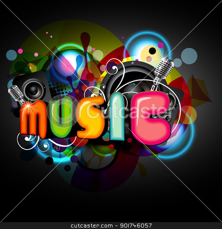 music background stock vector clipart, colorful music background. Eps10 illustration by pinnacleanimates