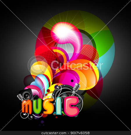 vector music background stock vector clipart, abstract music background eps10 illustration by pinnacleanimates
