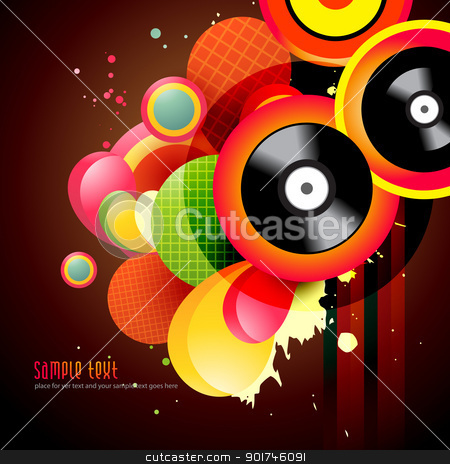 music background stock vector clipart, beautiful vector music background design by pinnacleanimates