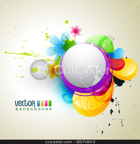 flower background stock vector clipart, beautiful vector background. Eps10 vector by pinnacleanimates