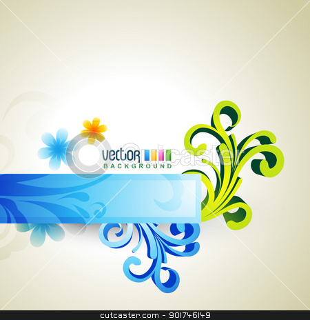 floral artwork stock vector clipart, beautiful floral artwork vector design by pinnacleanimates