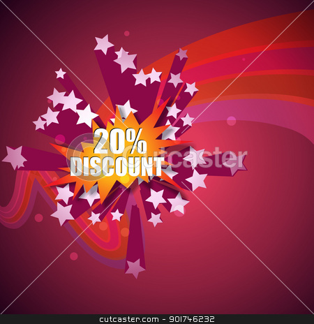discount label stock vector clipart, vector discount label placed inside stars by pinnacleanimates