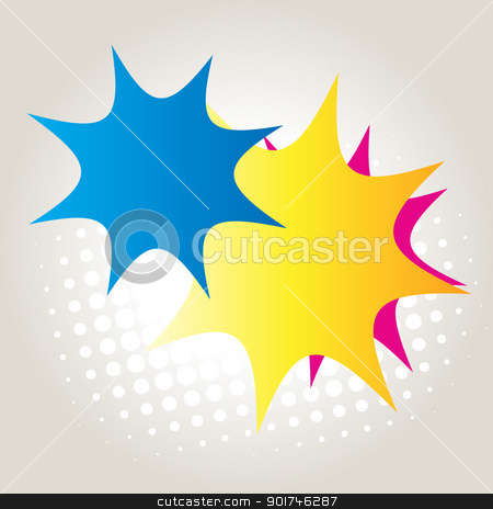 abstract colorful star stock vector clipart, vector abstract colorful abstract by pinnacleanimates