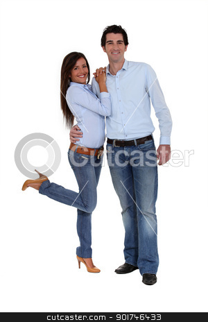 A cute couple. stock photo, A cute couple. by photography33
