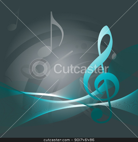 Music background stock vector clipart, vector music backgound by pinnacleanimates
