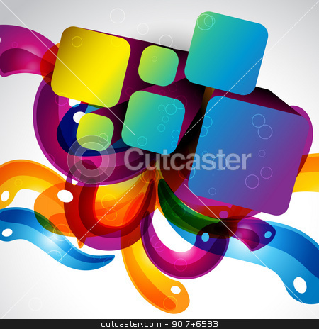 abstract stylish colorful eps10 design stock vector clipart, abstract stylish colorful eps10 design by pinnacleanimates