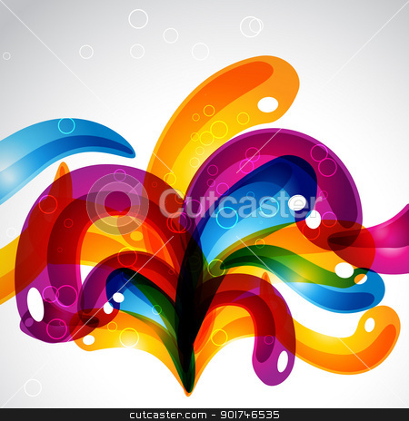 stylish colorful bubbles stock vector clipart, vector stylish colorful bubbles emerging out. eps10 design by pinnacleanimates