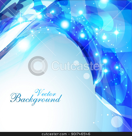 abstract wave stock vector clipart, abstract shiny eps10 blue color background by pinnacleanimates
