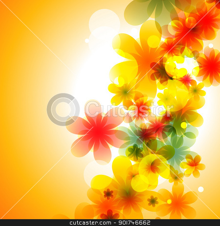 colorful flower stock vector clipart, beautiful colorful flower eps10 vector illustration by pinnacleanimates