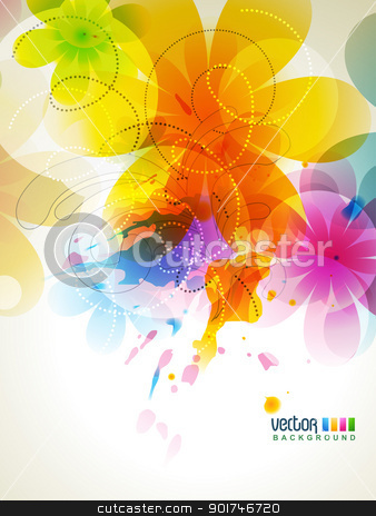 colorful background stock vector clipart, vector abstract colorful background illustration by pinnacleanimates