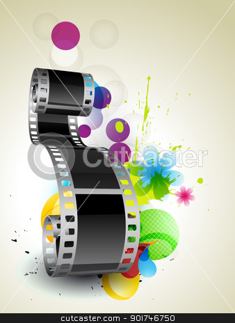 film background stock vector clipart, stylish abstract film on abstract background by pinnacleanimates
