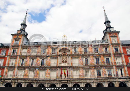 Plaza Mayor, Madrid stock photo, Plaza Mayor, Madrid, Spain by dinozzaver