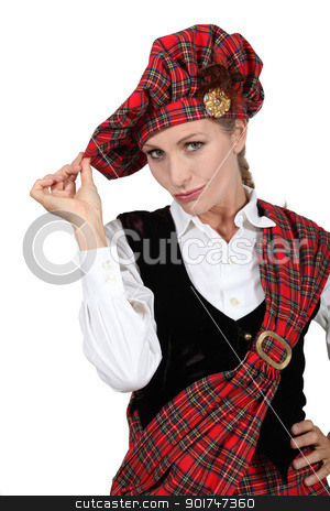 woman in Scottish costume stock photo, woman in Scottish costume by photography33