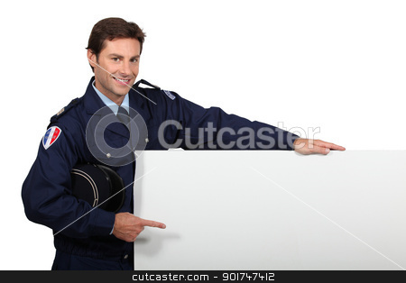 Man in French police costume stock photo, Man in French police costume by photography33