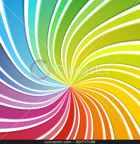 Colorful background stock vector clipart, Colorful background. Flowing stripes forming sprectrum colours. by simas2