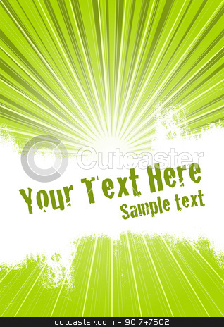 Green Burst Background stock vector clipart, Vector grunge background with copy space for your text by simas2