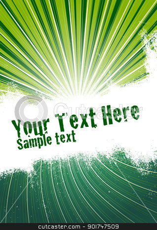 Green Burst Background stock vector clipart, Vector grunge background with copy space for your text. Global Swatches Included. by simas2