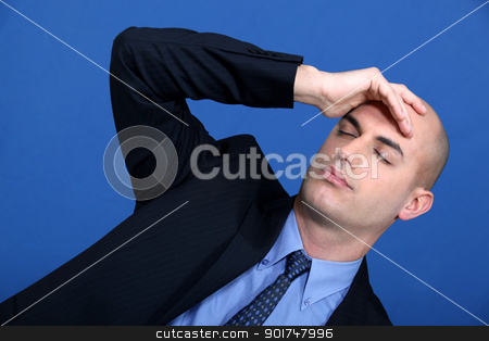 businessman having a headache stock photo, businessman having a headache by photography33