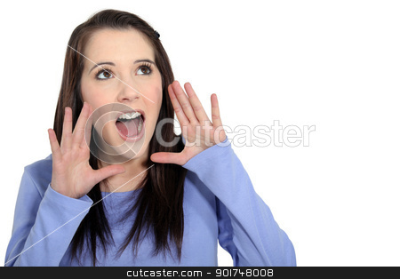 Girl screaming stock photo, Girl screaming by photography33