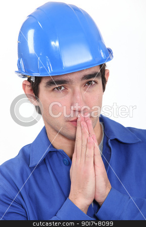 craftsman hoping and praying stock photo, craftsman hoping and praying by photography33