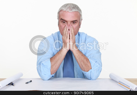 Architect facing a problem stock photo, Architect facing a problem by photography33