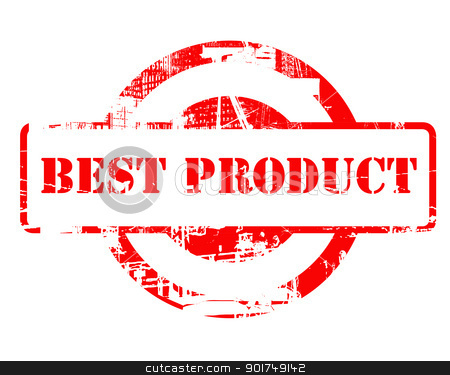 Best Product red stamp stock photo, Best Product red stamp with copy space isolated on white background. by Martin Crowdy