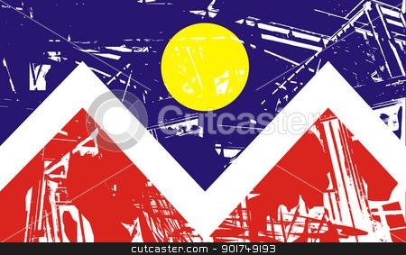 Denver city flag stock photo, Flag of Denver city, Colorado in the U.S.A  by Martin Crowdy