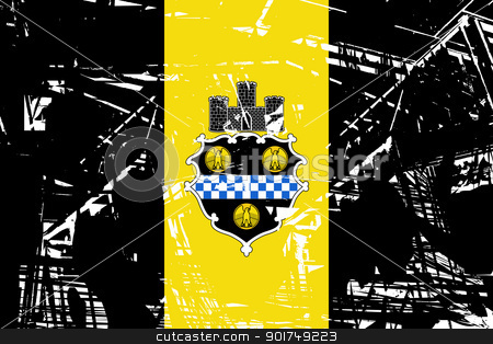 City of Pittsburgh flag stock photo, Flag of Pittsburgh city in the U.S.A by Martin Crowdy