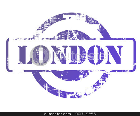London stamp stock photo, London stamp with copy space isolated on white background. by Martin Crowdy