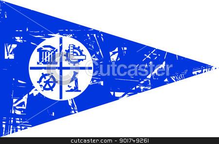 Minneapolis Flag stock photo, Minneapolis city flag, state of Louisiana, U.S.A.  by Martin Crowdy
