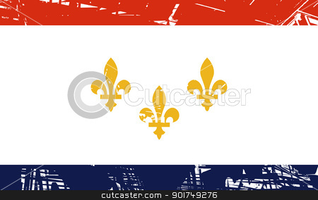 New Orleans flag stock photo, New Orleans city flag, state of Louisiana, U.S.A.  by Martin Crowdy