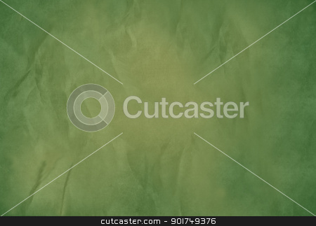 Old green paper background stock photo, Old green paper background with textured effect and copy space. by Martin Crowdy